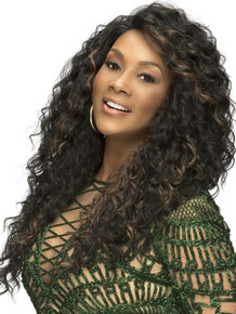 "JULIA- 24""Layered Deep Waves Long Wig - by Vivica Fox"