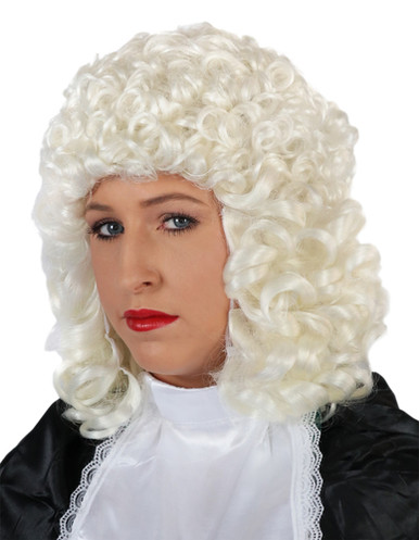Deluxe White Barrister Wig