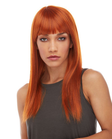 HAILEY - Heat Resistant Long Straight Copper Wig - By Sepia