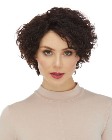 CAYENNE - 100% Remy Human Hair Short Curls Wig - By Elegante