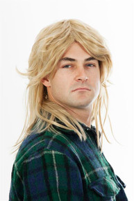 80s Mullet Wig Sandy Blonde Mens Costume Wig - by Allaura