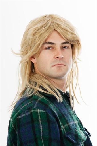 80s Mullet Wig Sandy Blonde Mens Costume Wig - by Allaura