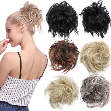Messy Bun Hairpiece 7 inch Tousled Elastic Band Chignon (11 Colours) - by Allaura
