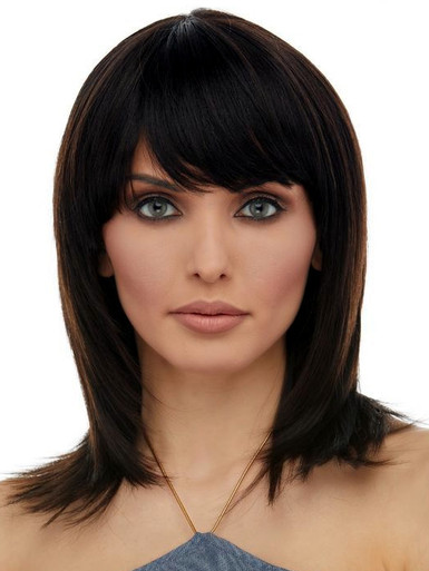 AILEEN - 100% Black Remy Brazilian Natural Human Hair Lace Front Wig - By Elegante