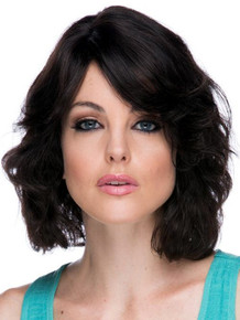 LOTUS - 100% Black Remy Brazilian Natural Human Hair Lace Front Wig