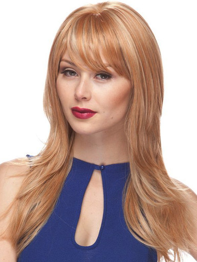 MELINDA - Human Hair Blend Heat Resistant Layered Long Wig - by Love It