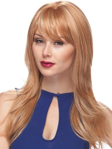 MELINDA - Human Hair Blend Heat Resistant Layered Long Wig - by Love It