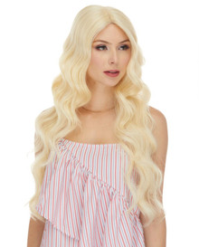 BRIDGET - Human Hair Blend Heat Resistant Wavy Long Wig - by Love It
