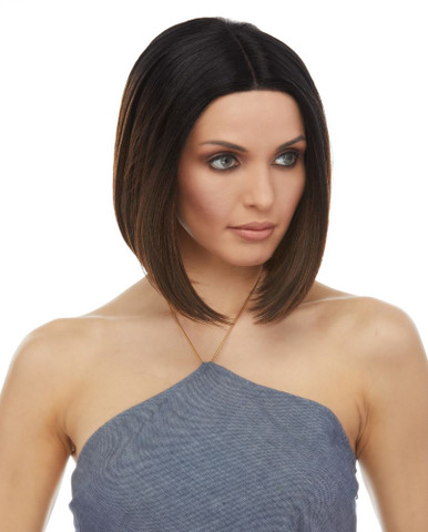 BLITHE - Ultra Chic Demi Bob Lace Front Heat Resistant Straight Wig  - by Sepia