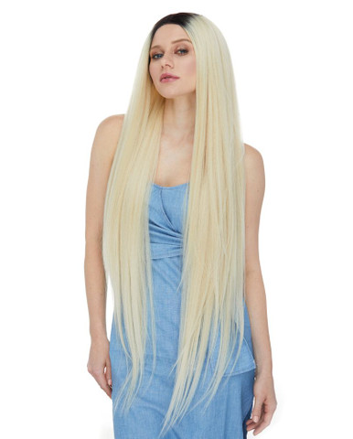 """RAYLYN - Extra Long 34"""" Heat Resistant Lace Front Long Straight Wig - By Sepia"""
