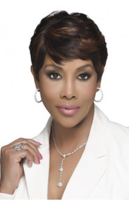"H302-V - 100% Human Hair 8"" Short Layered Cut Wig - by Vivica Fox"