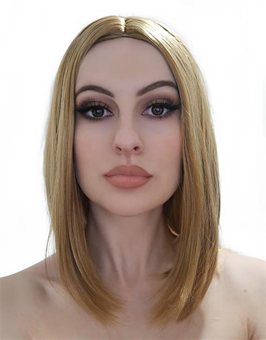 Long Light Brown Bob Costume Wig - by Allaura