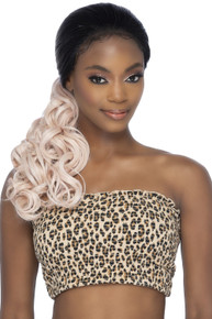 """LOWPONY WIG -  Lace Front 22"""" Low Body Curl Ponytail Wig - by Vivica Fox TT1B/PPK"""