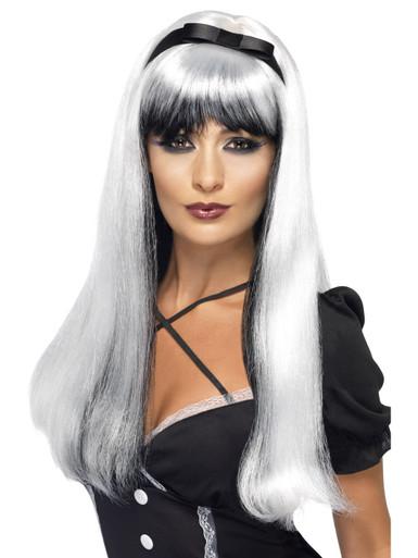 Silver White & Black Bewitching Wig