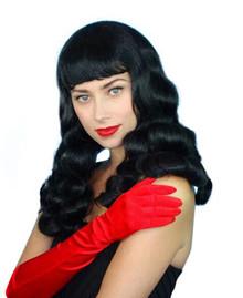 Black Bettie Burlesque Costume Wig