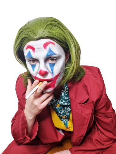 Green Jokester Clown Costume Wig  - by Allaura