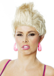 So What! PINK Blonde Rocker Short Wig