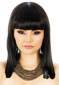 Cleopatra Egyptian Black Costume Wig