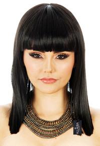 Cleopatra Egyptian Black Costume Wig