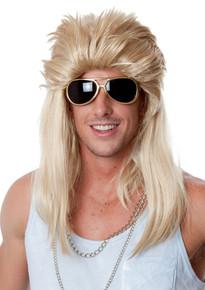 Mullet - 80's Mudflap Blonde Mullet Wig