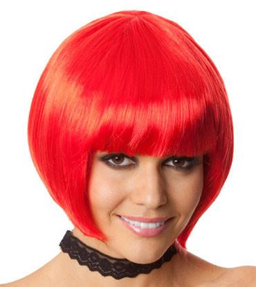 Bob Wig - Red Bob Costume Wig