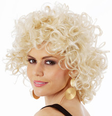Bad Sandy Grease Blonde Costume Wig