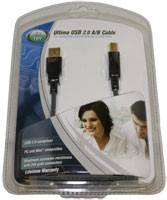 USB 2.0  Type A Male to Type B Male Cable