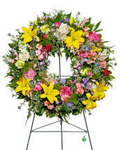 Garden Fresh Sympathy  Wreath