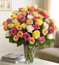 Three Dozen Assorted Long Stem Roses