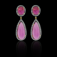 Double Pink Tourmaline Earring