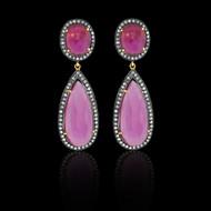 Double Pink Tourmaline Earring