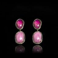 Color Me Happy Multi-Sapphire Pink Earrings