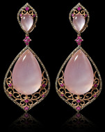 Diamond and Color Gem stone  Earring