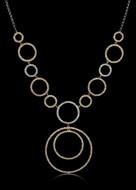 Tricolor Circle Diamond Necklace