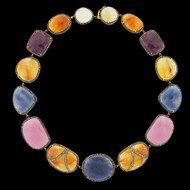 Multi Color Sapphire & Ruby Eternity Necklace
