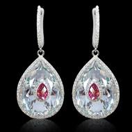 Diamond and Multi Color Stone Drop Earring