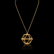 OCTAGON  3D GOLD Necklace