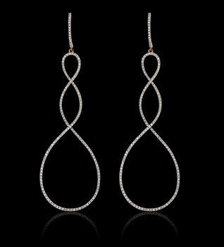 Double Infinity Diamond Earrings