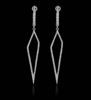 Trapzium Diamond Earrings