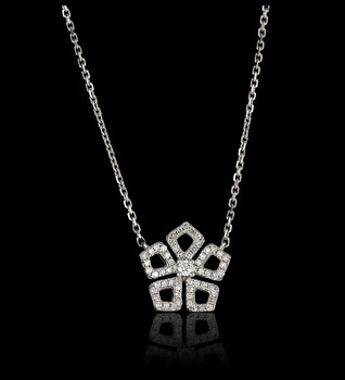 """Diamond """"Just Because"""" Coeur Necklace"""