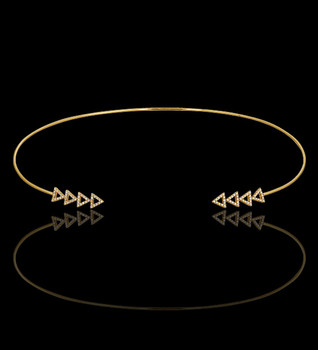 """Just Because"" Gold True North Open Cuff Necklace"
