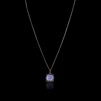 """Just Because"" Amythyst Square  Necklace"