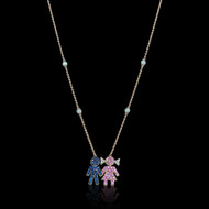 """Just Because"" Boy and Girl Sapphire Pendant"