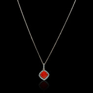 """Just Because"" Color Gem Stone & Diamond Necklace"