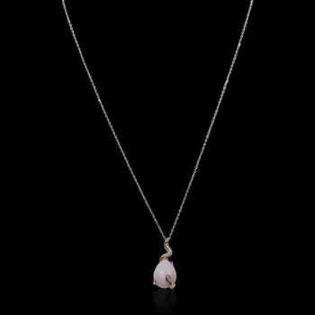 """Just Because"" Colored Gem Stone & Diamond Pendant"