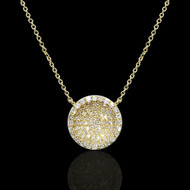 Diamond Pave Open World Necklace