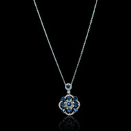 """Just Because"" Ruby & Sapphire Diamond Pendant"