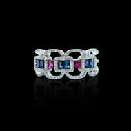 """""""Just Because"""" Sapphire Ruby Ring"""