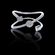 """Just Because"" Cluster Diamond Diagonal Princess Ring"