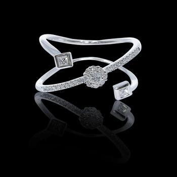"""Just Because"" Cluster Diamond Diagonal Princess Ring"